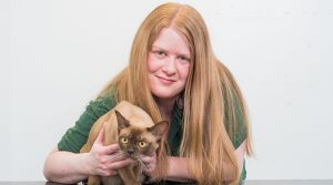 Fiona McLoven with Cat